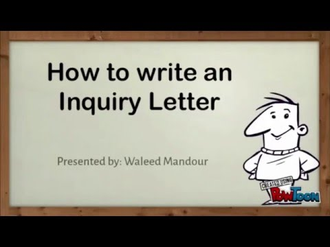 Inquiry Letter in Just 2 mins