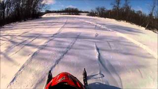 6. Arctic Cat Sabercats Drag Race and Play in Powder