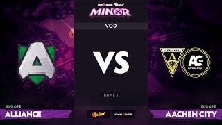 [RU] Alliance vs Aachen City Esports, Game 2, StarLadder ImbaTV Minor S2 EU Qualifiers