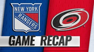 Lundqvist's 43 saves lifts Rangers past Hurricanes by NHL