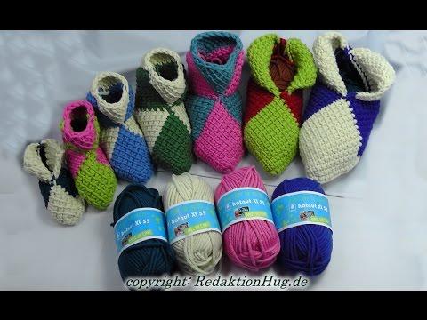 Tunesisch Häkeln – Puschen in jeder Größe – hatnut-Wolle – Veronika Hug