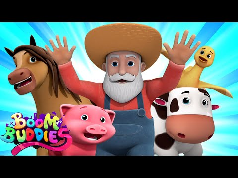 Old MacDonald Had A Farm Nursery Rhymes | Farm Song For Kids By Boom Buddies