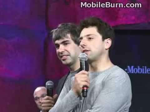 Los fundadores de Google hablan en el lanzamiento del teléfono Android G1