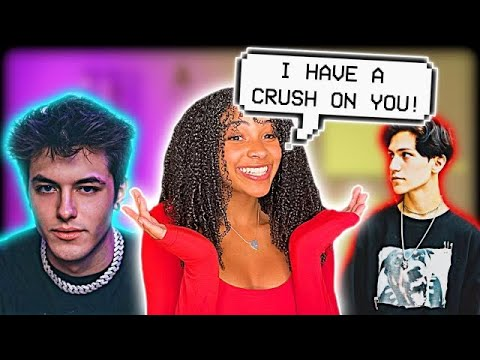 TELLING FAMOUS TIK TOKERS I HAVE A CRUSH ON THEM! + CURLY HAIR TIPS! (pt 2)