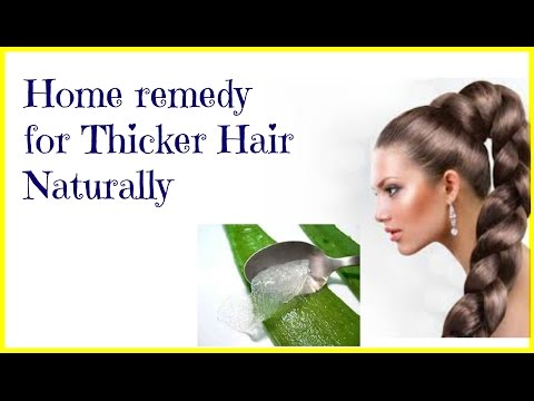 Beauty Tip Home remedy for Thicker Hair Naturally