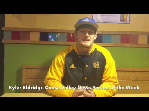 Coosa Valley News Person of the Week - Kyler Eldridge