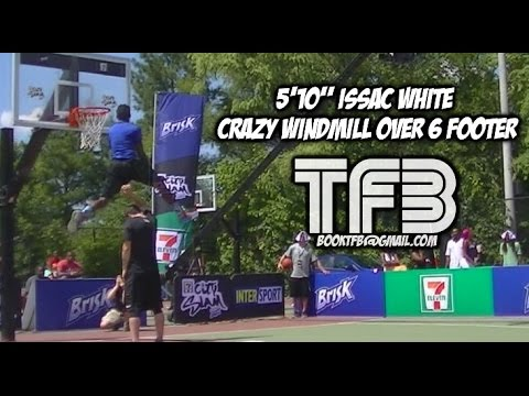 6 0 - Here's Sir Issac going over Chase during the DC Regional City Slam at Barry Farms in Washington D.C - Issac won the contest on ESPN as well as 10000$ Get your Team Flight Brothers Apparel...