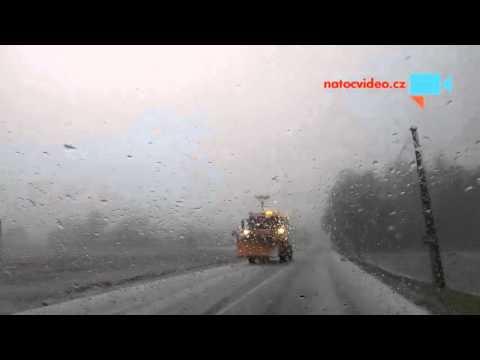 Husté sněžení 24.11. 2015 u Havlíčkova Brodu