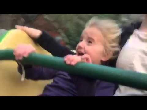 Child's First Time on a Roller Coaster! (Watch)