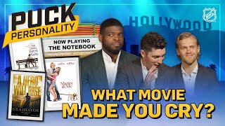 NHL stars reveal the last movie that made them cry | Puck Personality | NHL by NHL