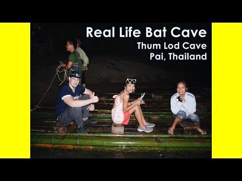 Stunning Bat Cave (Thum Lod) in Pai, Thailand. (видео)