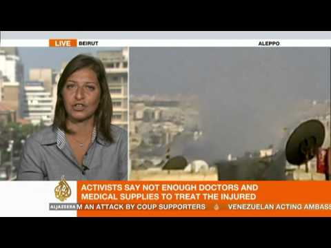 zeina khodr - Activists say the Syrian army is bombarding neighbourhoods in Aleppo province. Al Jazeera's Zeina Khodr reports on the latest from Beirut in neighbouring Leb...