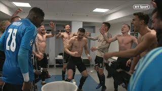 Amazing scenes! Ajax players celebrate in Juventus stadium dressing room!