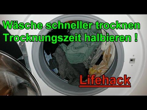 Wäsche schneller im Trockner trocknen - Trocknungszeit halbieren / Lifehack - Haushaltstipps
