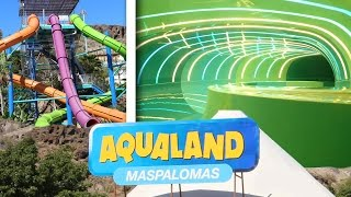 Gran Canaria Spain  city photo : Awesome Waterslides at Aqualand Maspalomas, Gran Canaria, Spain (GoPro POV)