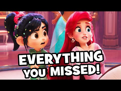 Every AMAZING Wreck-It Ralph 2 DISNEY PRINCESS Detail You Missed! - Ralph Breaks The Internet