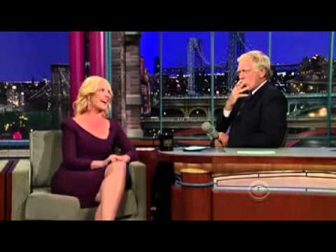 Katherine Heigl has an E-Cigarette with David Letterman