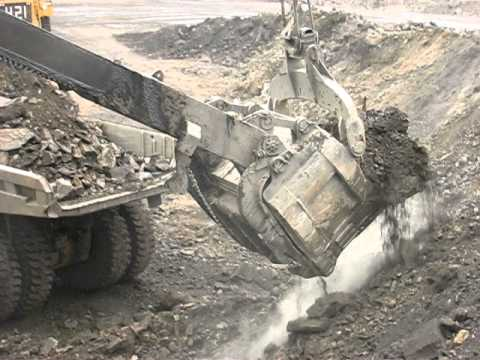 p&h - P&H 2800 electric shovel working at a coal mine in NE British Columbia.