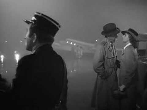 Casablanca - Bogart and Bergman at the Casablanca airport at the end of the movie.