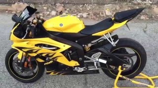 10. 2008 Yamaha R6 Limited Edition (rev on shorty exhaust and custom led tail section)