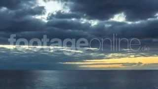 Twilight with sea view (time lapse) footage_012482