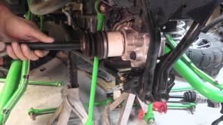 9. Arctic cat Wildcat broken drive shaft axle removal
