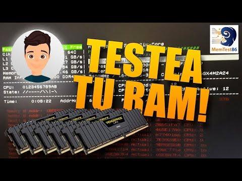 Cómo testear memoria RAM completamente con Memtest86 fácilmente