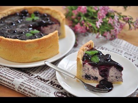 教你怎么做藍莓乳酪塔。How to make blueberry cheese tart