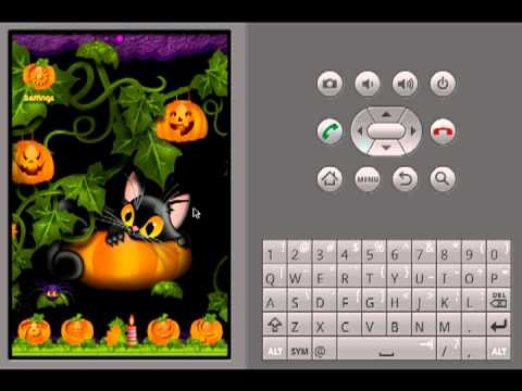 Video of ADW Theme Kitty and Pumkin