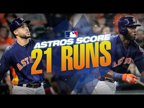 Video: Astros put up 21 runs against the Mariners