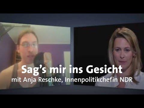 """LIVE: """"Sag's mir ins Gesicht"""" mit Anja Reschke"""