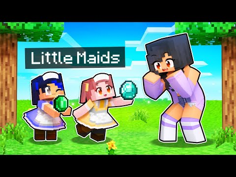 Minecraft But HELPFUL Maids DO THE WORK FOR US!
