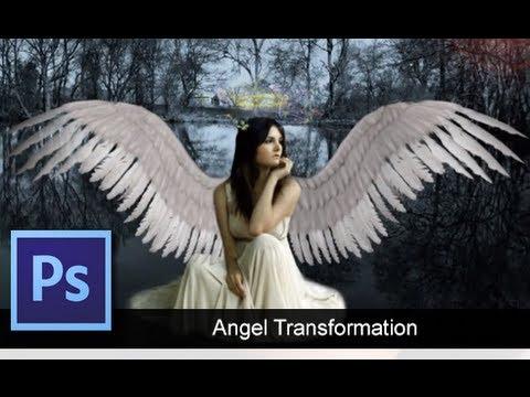 Как сделать ангела в фотошопе