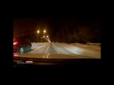 ДТП 07-01-2017 Тюмень ул Ямская / Смертельные гонки в Тюмени (видео)