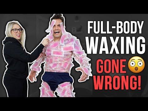 WAXING MY HUSBAND GONE WRONG!! *240 Wax Strips*