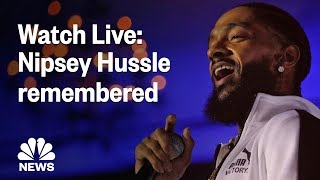 Nipsey Hussle Honored In Funeral Service At Staples Center | NBC News