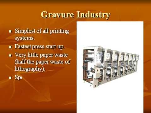 Gravure Printing process (видео)