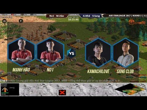 AOE | STAR LEAGUE 2017 Vòng 2 No1 - Mạnh Hào vs Hữu Nhã - Văn Sang  Ngày 19 11 2017. BLV : Hải Mario.
