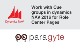 How to work with Cue groups in dynamics NAV 2016 for Role Center Pages?