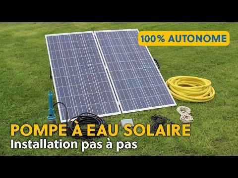 Installation d'une pompe solaire LORENTZ PS2 100