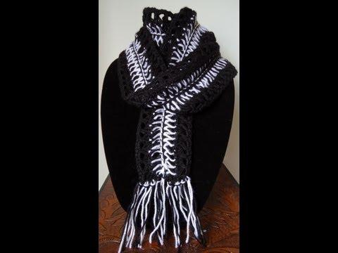 Crochet : Bufanda en Punto Zebra