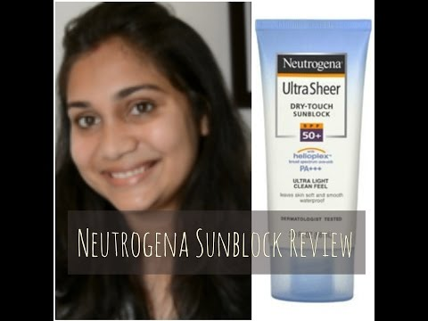 Neutrogena Ultra Sheer Dry Touch Sunblock with SPF50+ Review|Nidhi Katiyar