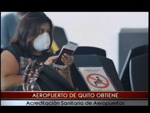 Aeropuerto de Quito obtiene acreditación sanitaria de aeropuertos