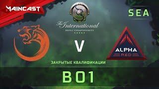 TNC Tiger vs Alpha Red, The International 2018, Закрытые квалификации   Ю-В Азия