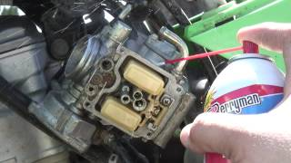10. 2003 Kawasaki KFX400 Carburetor Cleaning