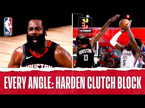 James Harden SERIES-WINNING block!
