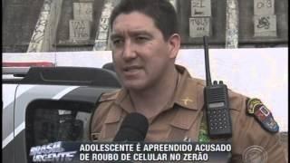 Adolescente é apreendido acusado de roubo de celular no Zerão (06/07)