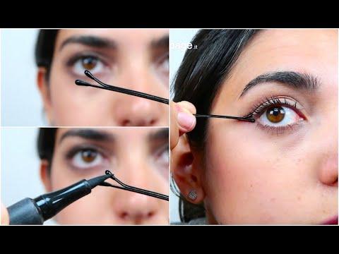 Come mettere l'eyeliner con una forcina per capelli