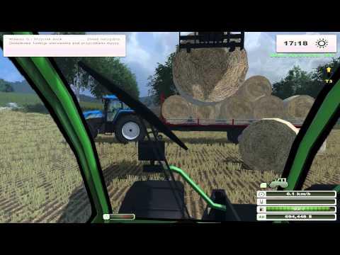 Prasowanie i zwożenie słomy | MoreRealistic Mod - Farming Simulator [LS] 2013