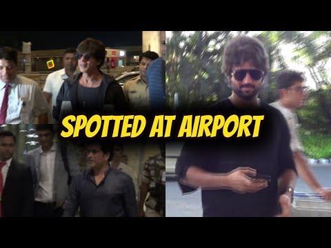 Shahrukh Khan , Sachin Tendulkar  & Vijay Devarakonda Spotted At Airport